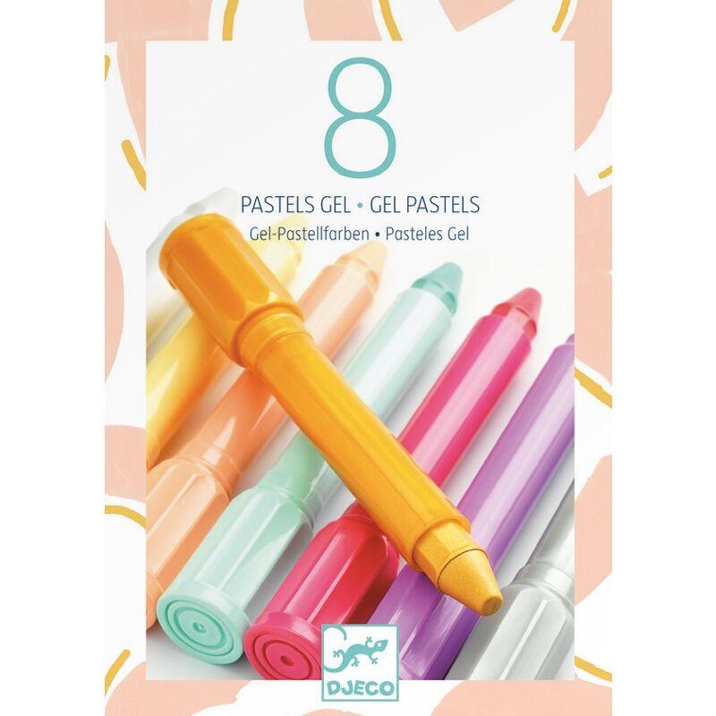 Gélpasztell - Lányos színekben - Djeco kreatív készlet 5 éves kortól