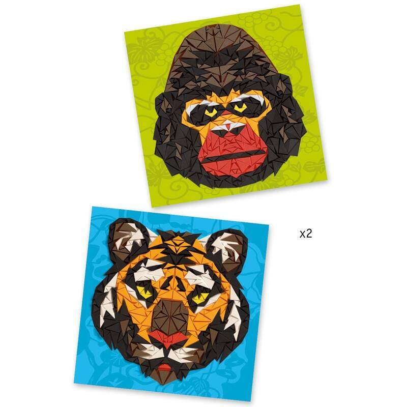 Mozaikkép készítés - Vadállatok - Djeco kreatív készlet 8 éves kortól