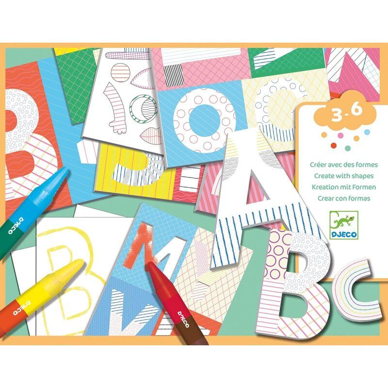 Kreatív világ, levelek, Djeco kreatív készlet 3-6 éves korig