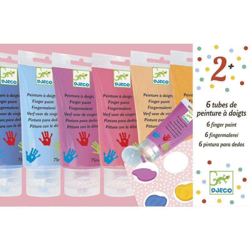 Ujjfesték - 6 szín tubusban - Djeco kreatív készlet 2 éves kortól