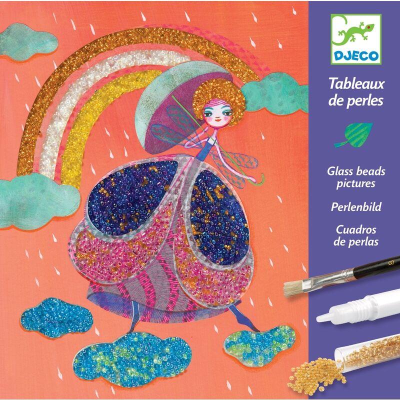 Gyöngyfestmények - Csodaország, Djeco kreatív készlet 8 éves kortól