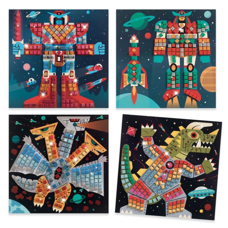 Mozaikkép készítés - Hadüzenet - Djeco kreatív készlet 5 éves kortól
