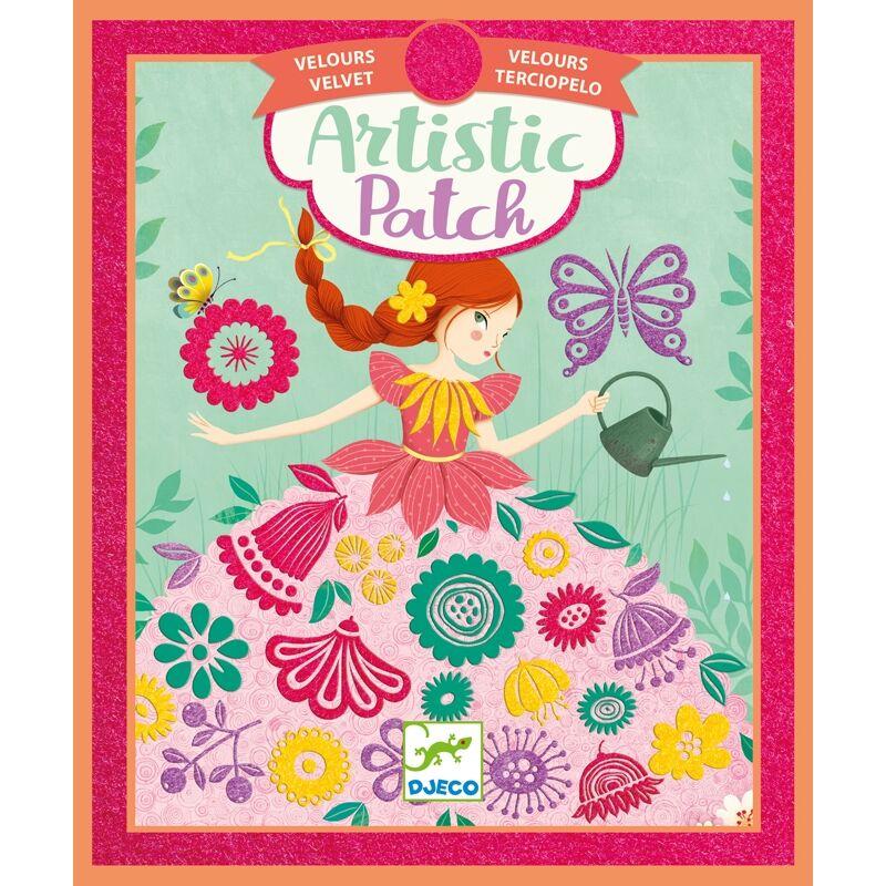 Bársonykép készítés - Kis hölgyek, Djeco kreatív készlet 6 éves kortól