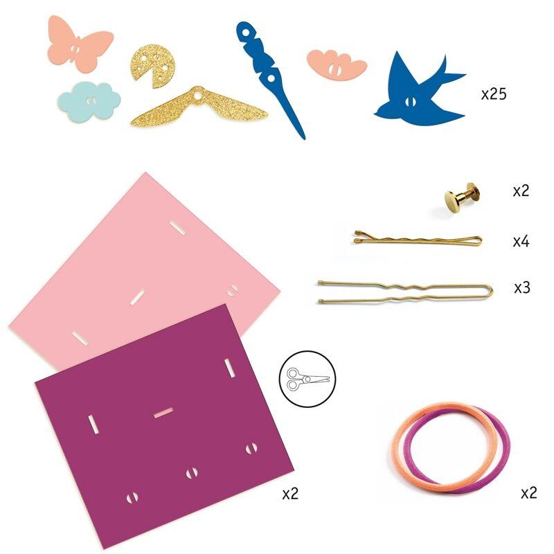Magic plastic ékszer készítés - Hajba valók - Djeco kreatív készlet 7-13 éves korig