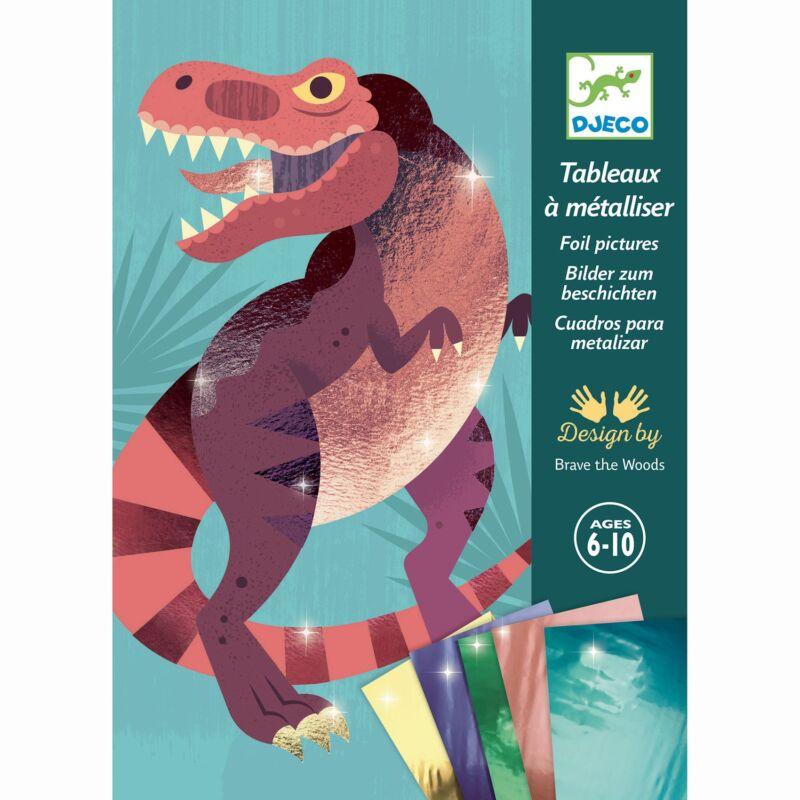 Fémfóliás színezés - Dinók korszaka - Jurassic - Kreatív készlet 6-10 éves korig