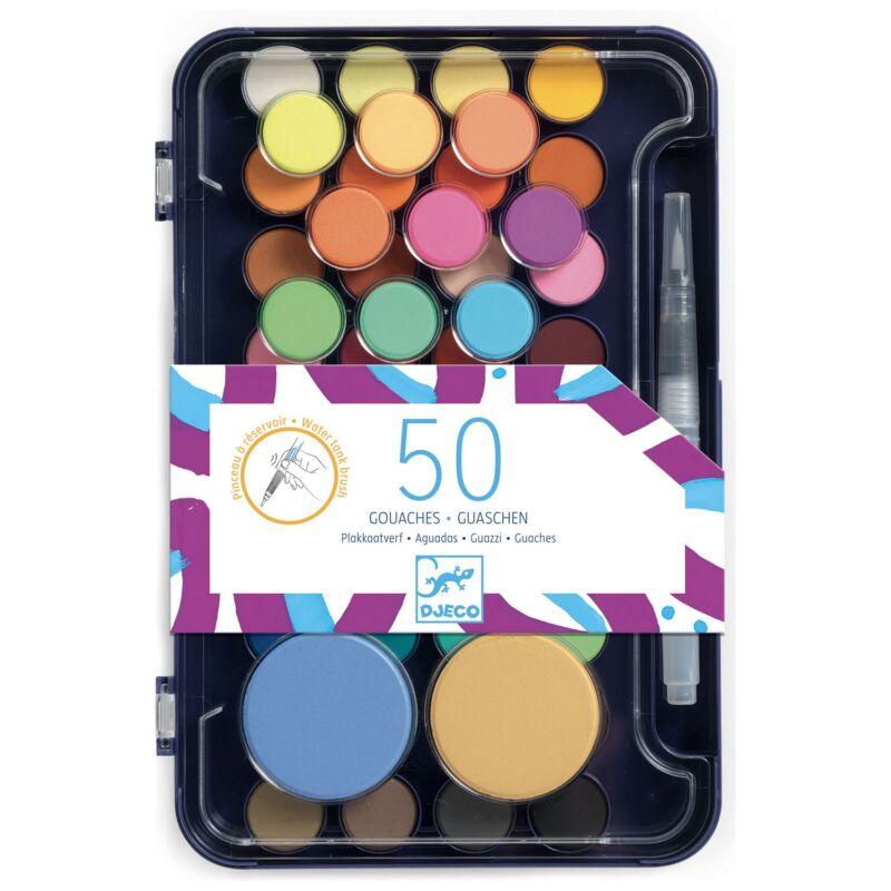 Artist's palette - gouache festékpaletta - Djeco kreatív készlet 6 éves kortól