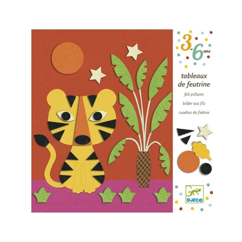 Filc ragasztgatás - Édes természet - Djeco kreatív készlet 3-6 éves korig