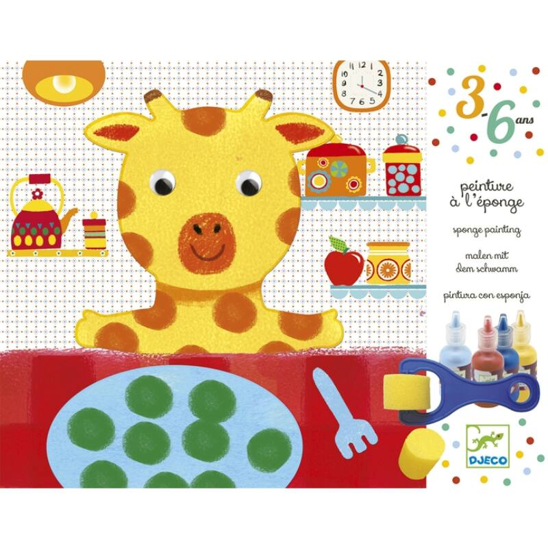 Szivacsfestő műhely - Spongya mackó - Djeco kreatív készlet 3-6 éves korig