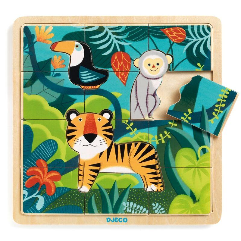 Képkirakó, puzzle - Dzsungel puzzle - Djeco puzzle 2-5 éves korig