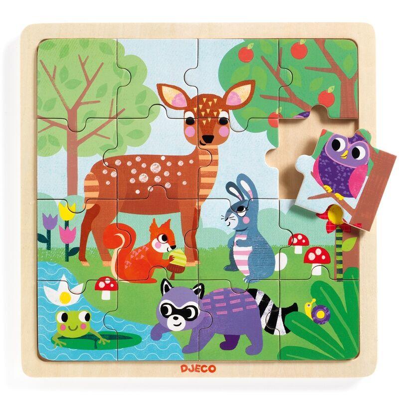 Képkirakó, puzzle - Erdő - Djeco puzzle 2-5 éves korig