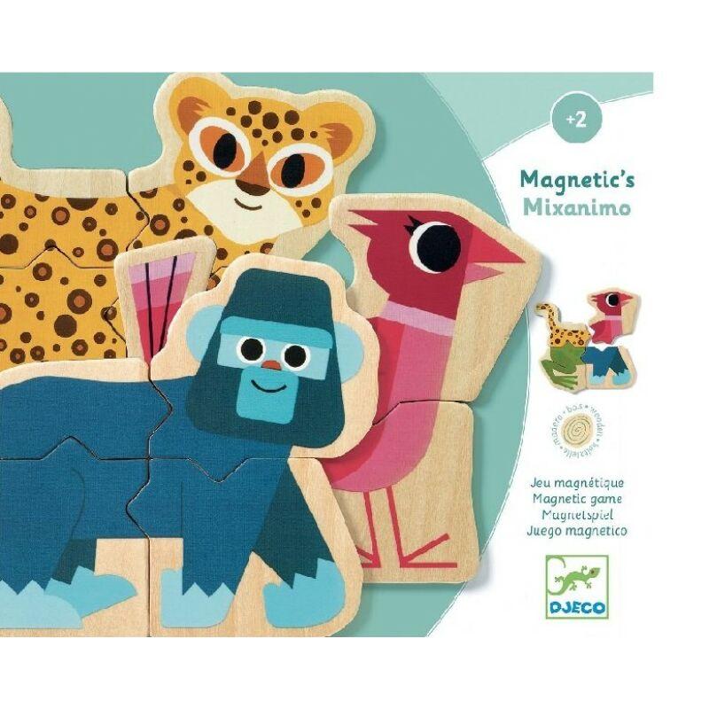 Mágneses képkirakó - Mixanimo - Djeco fejlesztő játék 2 éves kortól