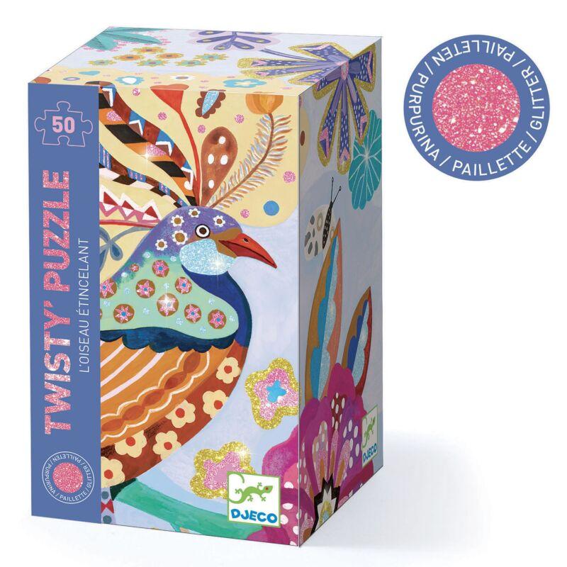 Varázs puzzle - Csillogó madár - Sparkling bird - Djeco kirakó 5 éves kortól