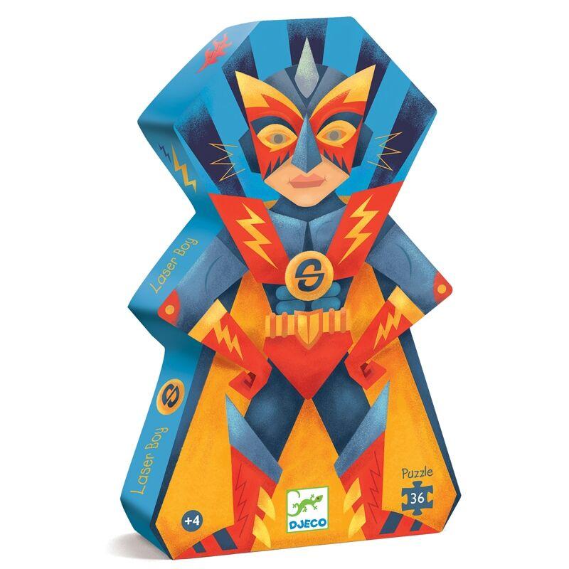 Formadobozos puzzle - Szuperhős - Djeco puzzle 4-8 éves korig