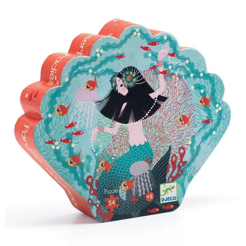 Formadobozos puzzle - Gyöngyhalász lányka -Djeco puzzle 5-8 éves korig