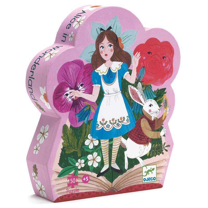 Formadobozos puzzle - Alice csodaországban -Djeco puzzle 5-10 éves korig