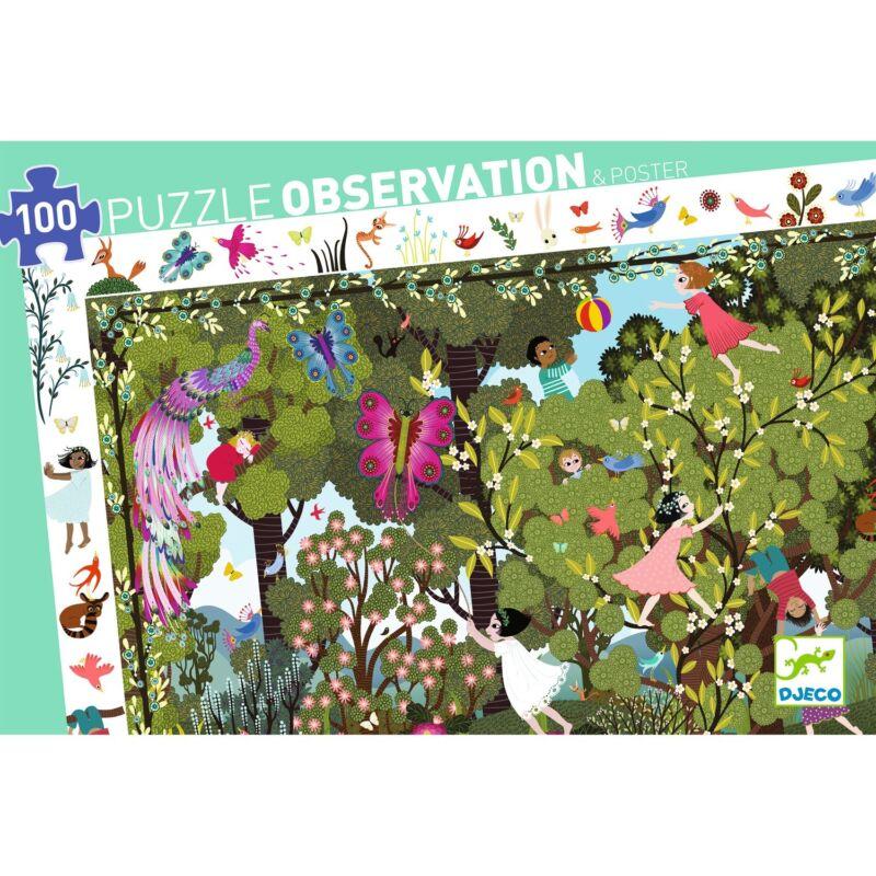 Megfigyeltető puzzle - Kerti játék - Djeco puzzle 5-99 éves korig