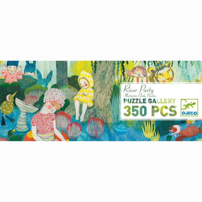 Művész puzzle - River Party, 350 db-os - Djeco puzzle 7 éves kortól