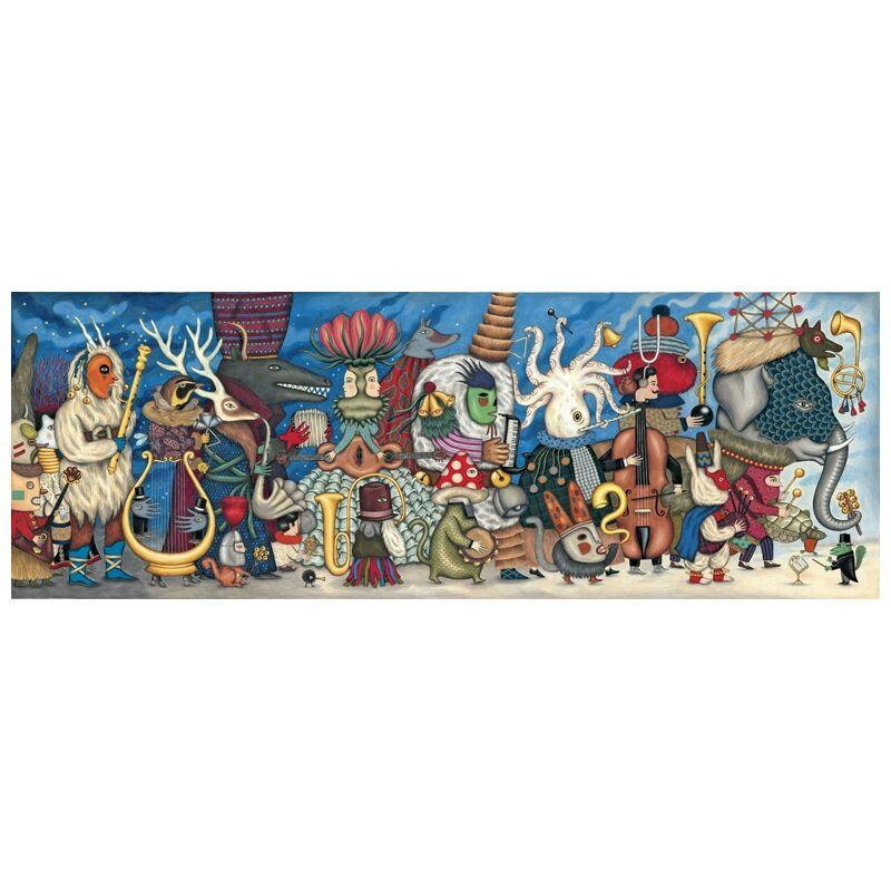 Művész puzzle - Fantasztikus zenekar, 500 db-os, Djeco puzzle 8 éves kortól