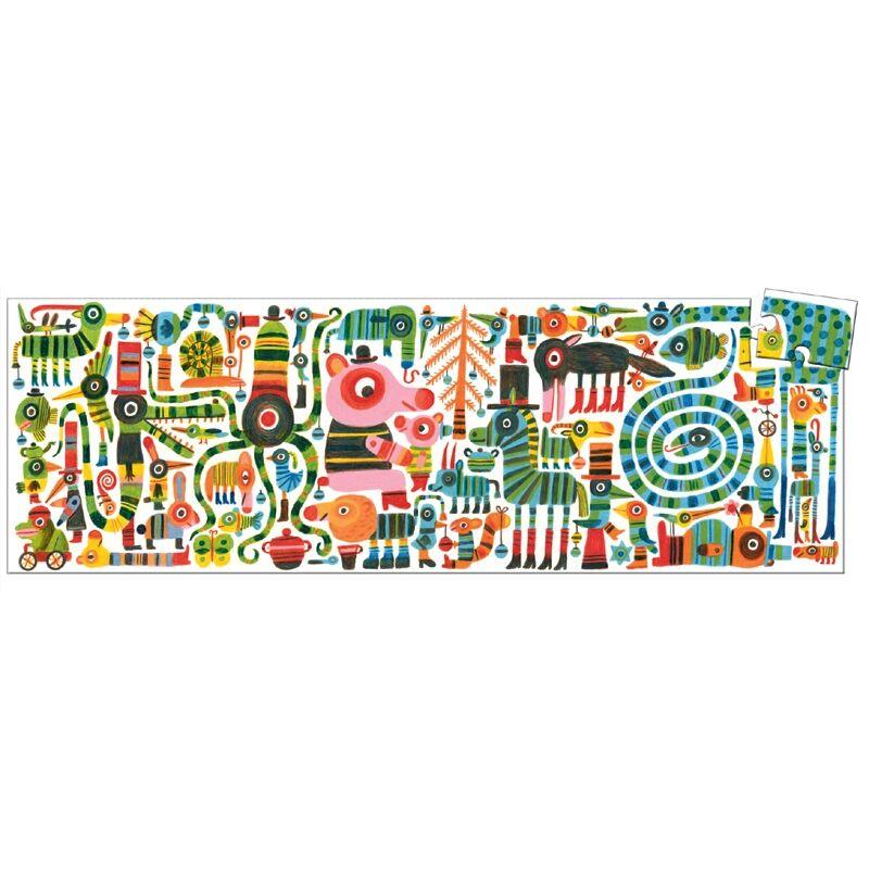 Művész puzzle - Vicces zebra, 36 db-os - Djeco puzzle 4-8 éves korig