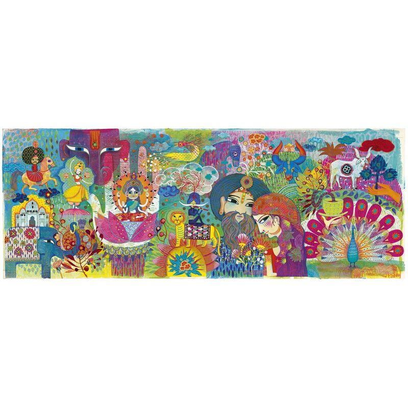 Művész puzzle - Varázslatos India, Djeco puzzle 100 darabos, 6 éves kortól