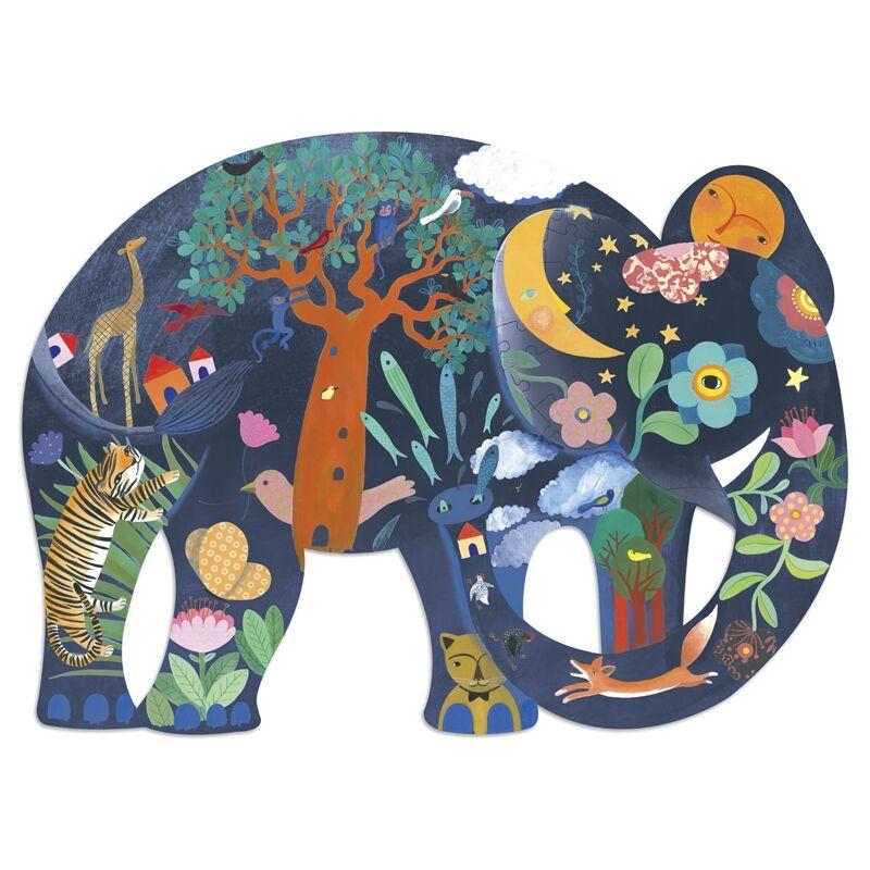 Művész puzzle - Elefánt, 150 db-os - Djeco puzzle 6 éves kortól