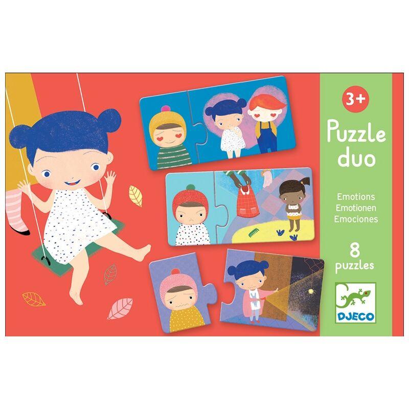 Párosító puzzle - Érzelmek -Djeco puzzle 3-6 éves korig