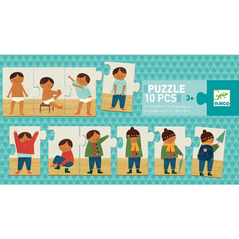 Sorozat kirakó puzzle - Felöltöztem -Djeco puzzle 3-6 éves korig