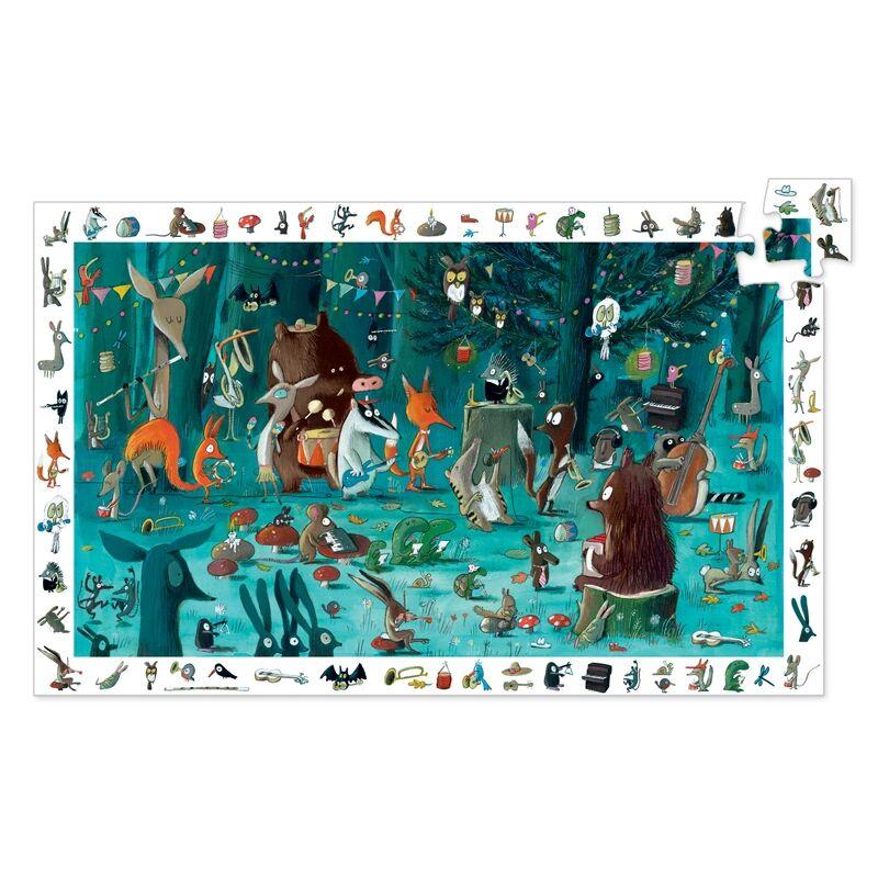 Megfigyeltető puzzle - Zenekar, 35 db-os, Djeco puzzle 4 éves kortól