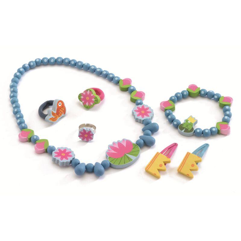 Vízi Lily_ékszerkészlet kislányoknak, Djeco kreatív készlet, 4 éves kortól