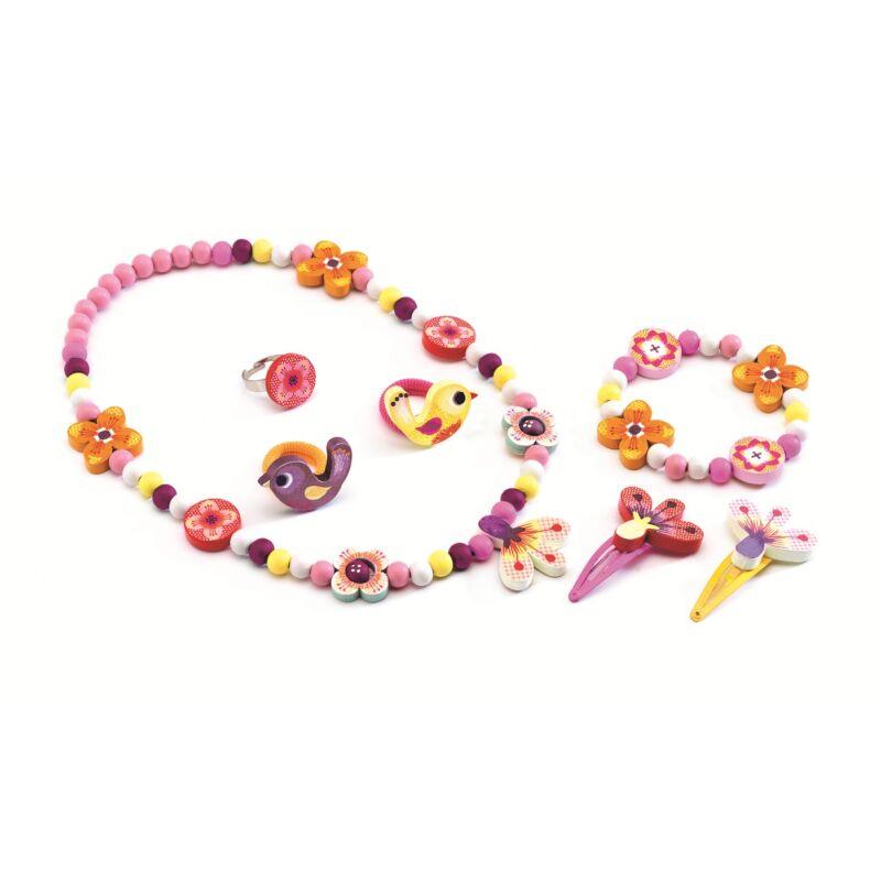 Erdei virágok  - Ékszerkészlet kislányoknak - Djeco kreatív készlet 4 éves kortól