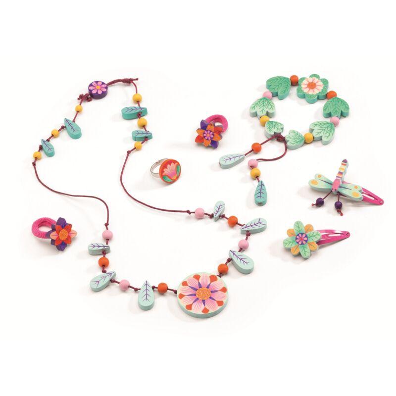 Csodálatos virágok_ékszerkészlet kislányoknak 4 éves kortól