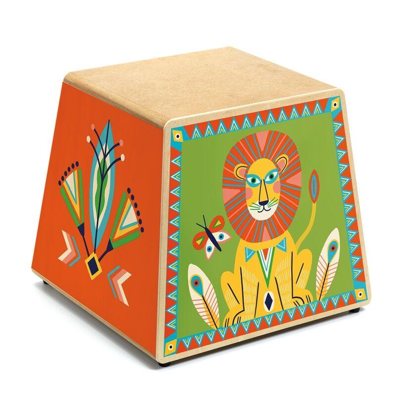 Játékhangszer - Perui dobozdob - Cajon, Djeco hangszer 4-8 éves korig