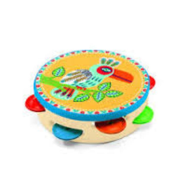 Tamburin - Djeco játékhangszer 3-6 éves korig