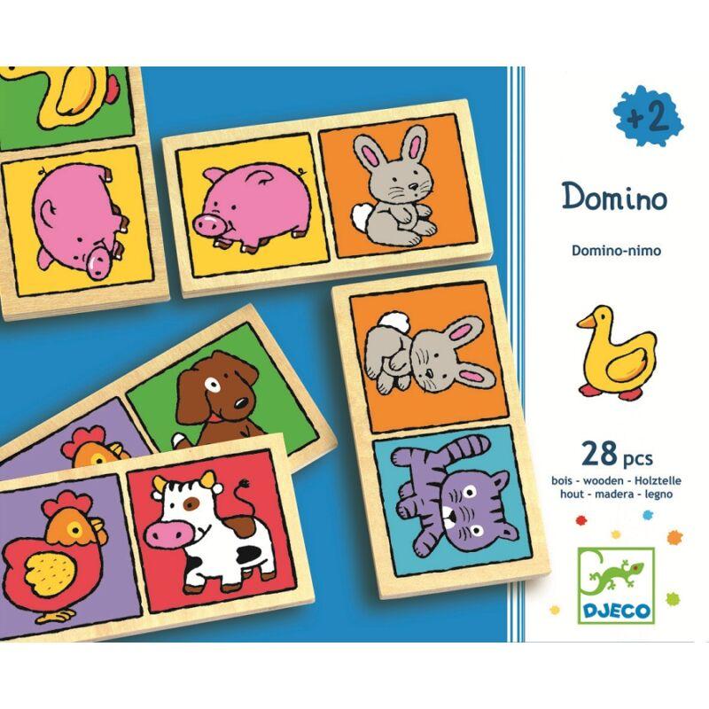Klasszikus állatdominó - Djeco társasjáték 2-4 éves korig