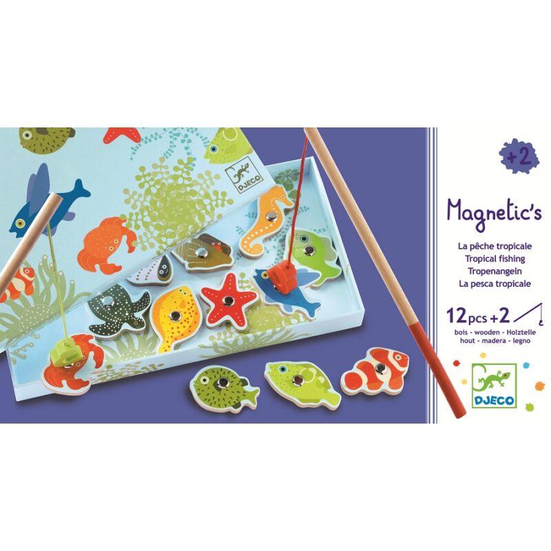 Mágneses tengeri  hal horgászós játék - Djeco társasjáték 2-4 éves korig