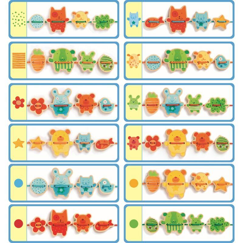 Családi fűzőcske - Djeco fejlesztő játék 2 éves kortól
