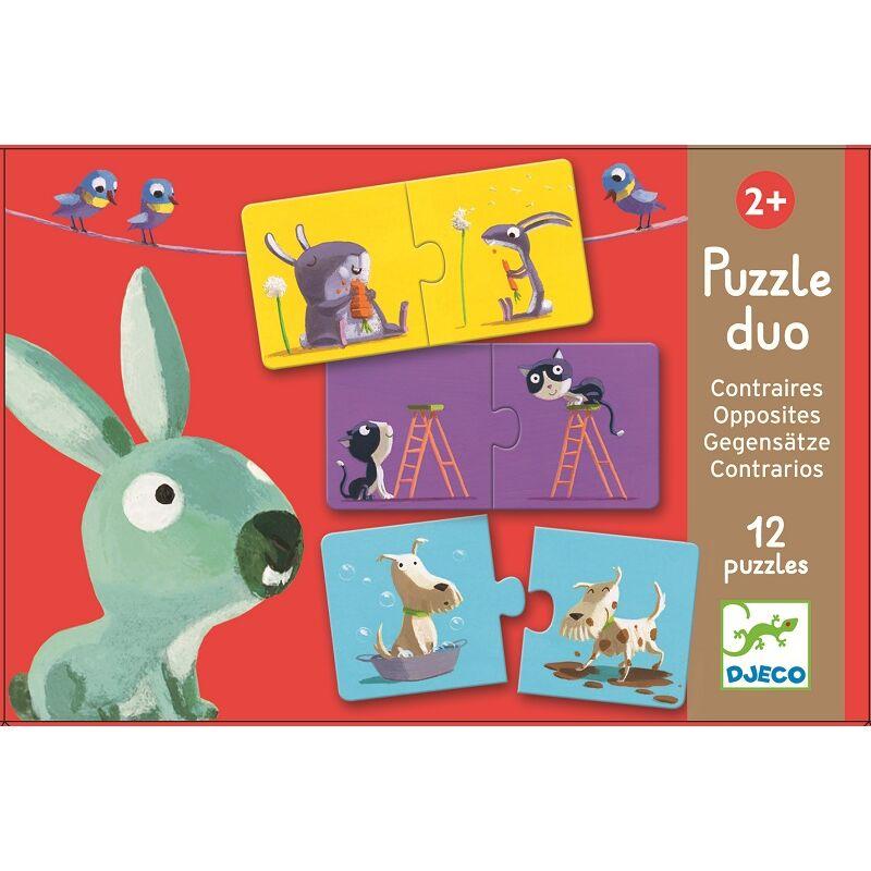 Ellentétek - Párkereső, Djeco puzzle 2-4 éves korig