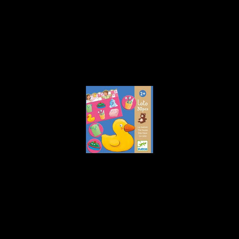 Lottóház - szókincs fejlesztő társasjáték, Djeco társasjáték 2-4 éves korig