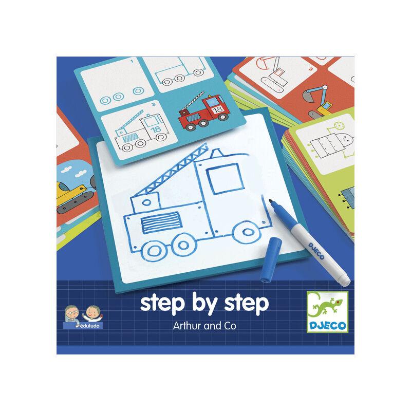 Lépésről lépésre - Járművek - Djeco kreatív készlet 3-6 éves korig