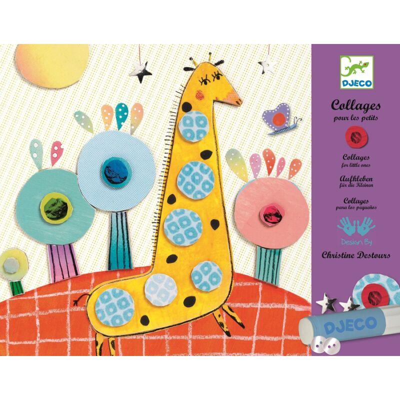 Képragasztás részletekből kicsiknek, Djeco kreatív készlet 3-6 éves korig
