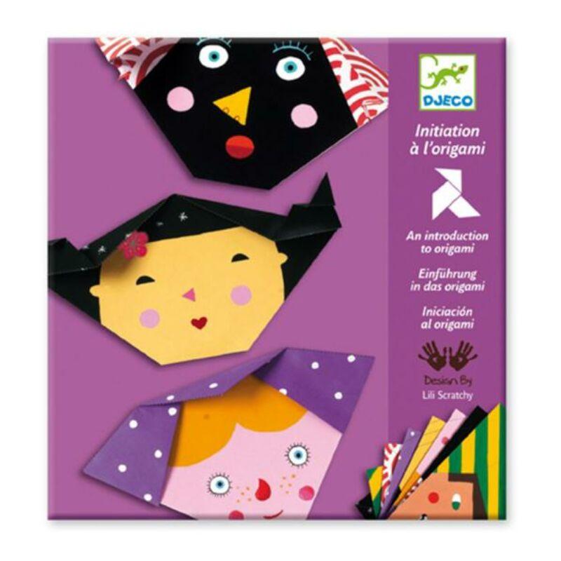 Origamiarcok - Djeco kreatív készlet 4 éves kortól