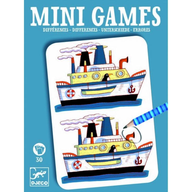 Mini játékok - Eltérések fiúknak - Djeco fejlesztő játékok 6 éves kortól