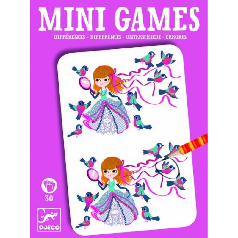 Mini játékok - Eltérések lányoknak - Djeco fejlesztő játékok 6 éves kortól