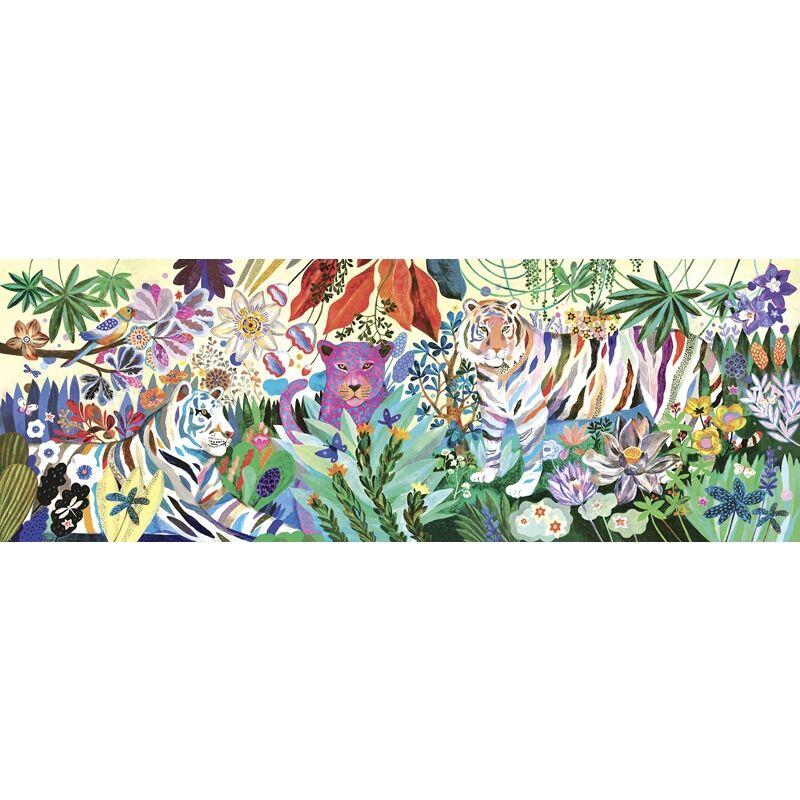 Művész puzzle - Szivárványos tigrisek, 1000 db-os - Rainbow Tigers
