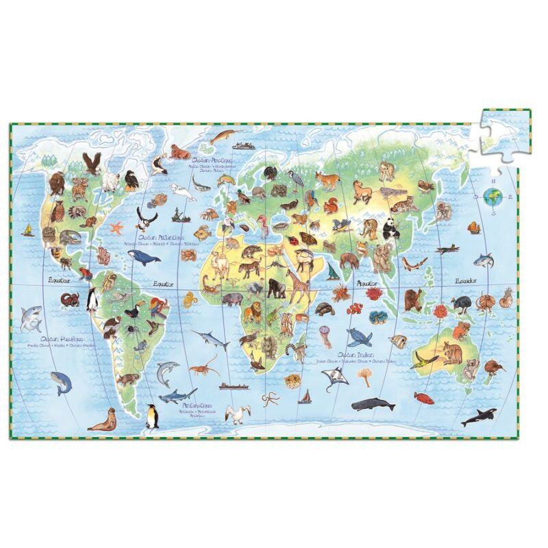 Föld állatai- 100 db-os Djeco kereső puzzle 5-10 éves korig