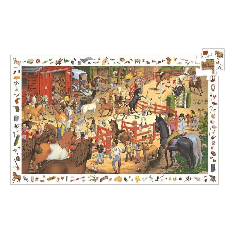 Lovaglás - 200 db-os megfigyelő puzzle, Djeco,  6-12 éves korig