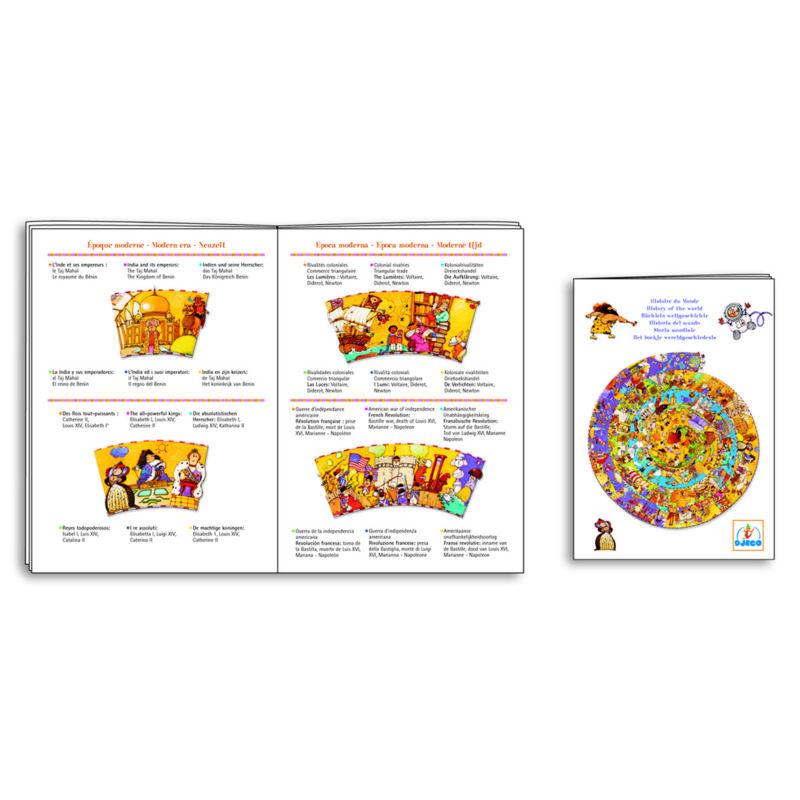 Történelem + kisfüzet - Djeco 350 db-os megfigyelő puzzle 7 éves kortól
