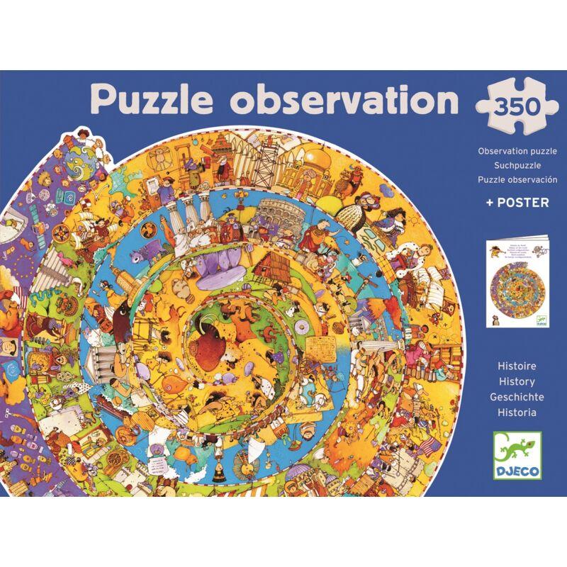 Történelem + kisfüzet - 350 db-os megfigyelő puzzle, Djeco