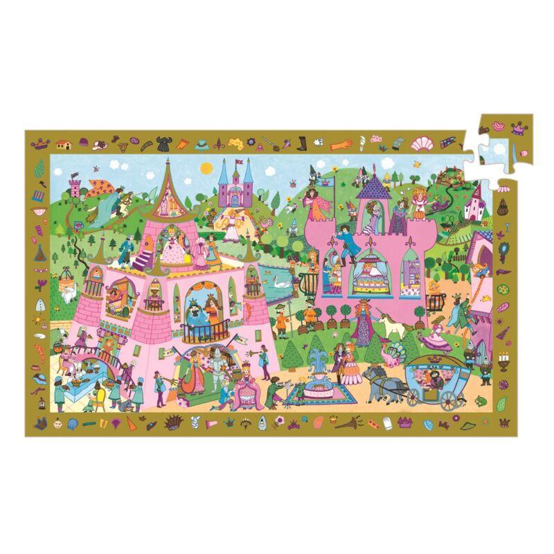 Hercegnő 54 db-os felfedező puzzle, Djeco puzzle