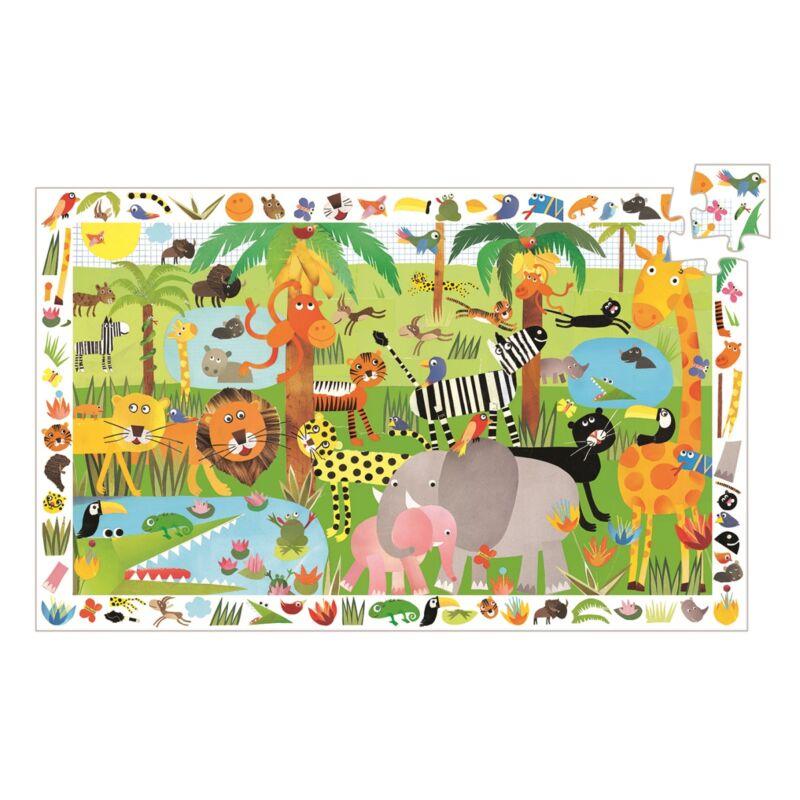 Dzsungel, Felfedező puzzle, Djeco